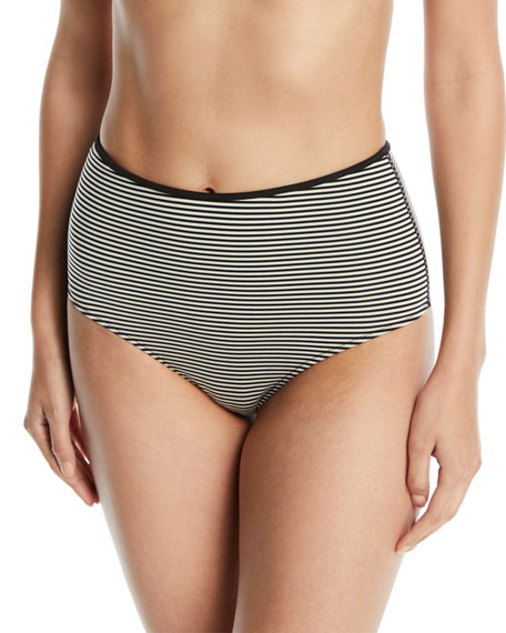 Tarpum Bay Striped High-Waist Bikini Bottom