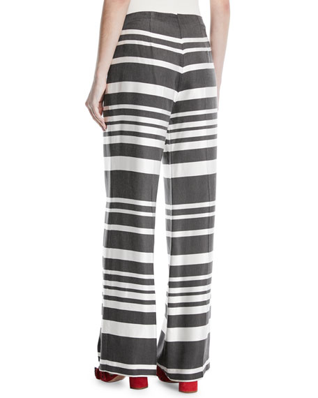 Netti Parasol Striped Wide-Leg Pants