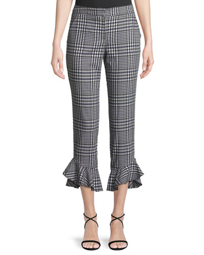 Cahuenga Picnic Plaid Ruffle Pants