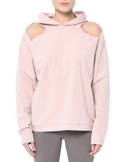 Coppell Hooded Cutout Pullover Sweatshirt