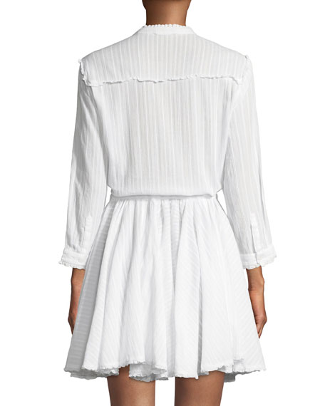 Ranil Striped Cotton Shirtdress