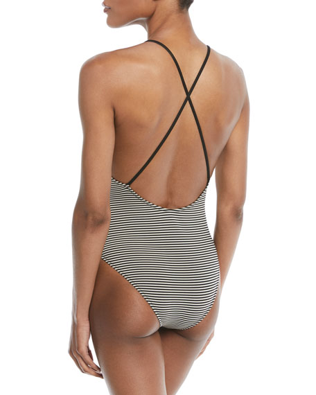 Harbour Island Striped One-Piece Swimsuit