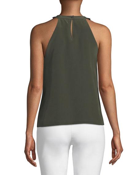 Silk Slipover Halter Top