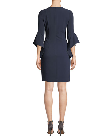 Lorie Bell-Sleeve Mini Dress