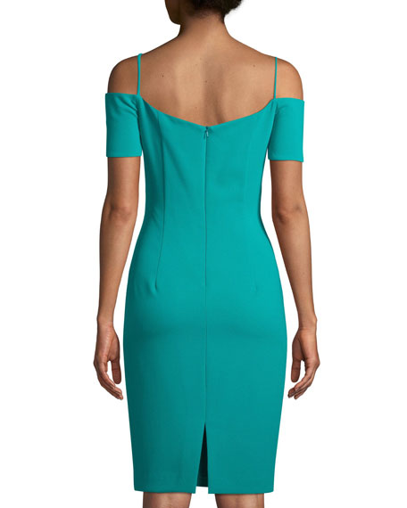 Cortese Cold-Shoulder Sheath Dress