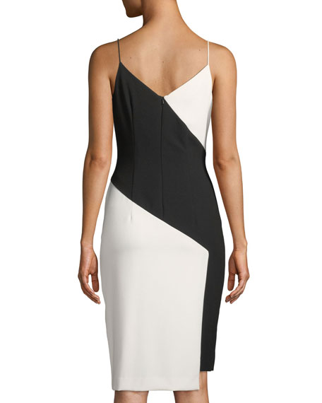 Deetz Colorblock Sheath Dress with Slit