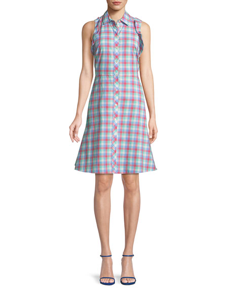 kate spade new york madras plaid poplin sleeveless