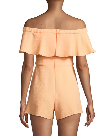 Penelope Off-the-Shoulder Ruffle Romper