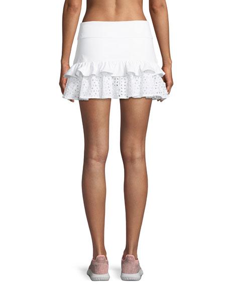 eyelet ruffle tennis skirt
