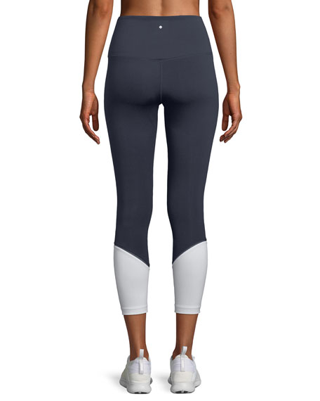 high-rise colorblock cropped leggings