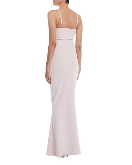Dionella Sweetheart Cami-Strap Column Gown