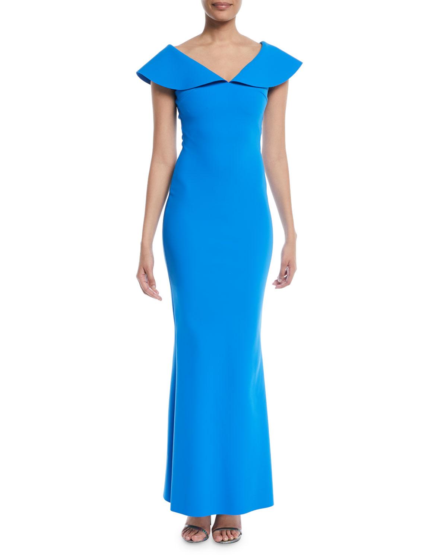 Chiara Boni La Petite Robe Joanna Mermaid Evening Gown with Wide ...