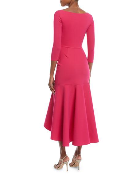 Chiara Boni La Petite Robe Wilma High-Low Ruffle Cocktail Dress