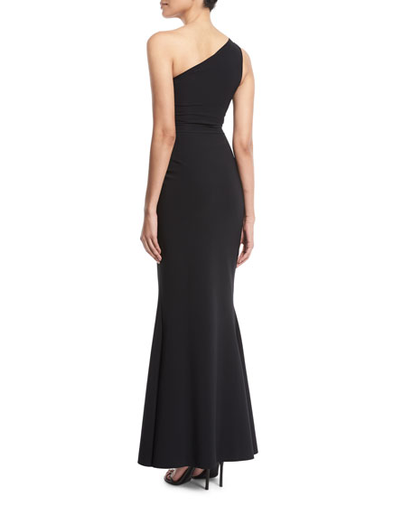 Mariela One-Shoulder Knot Gown