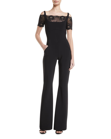 Rohana Jumpsuit w/ Lace Cold Shoulders