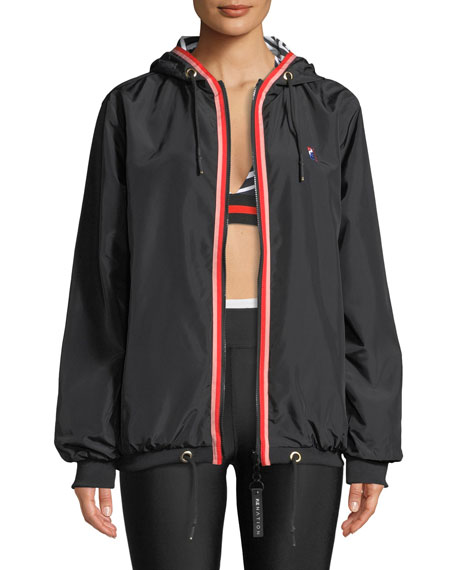 Steeple Chase Reversible Hooded Zip-Front Jacket