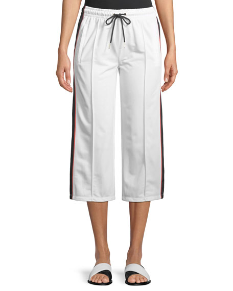 PE Nation Invincible Cropped Wide-Leg Pants