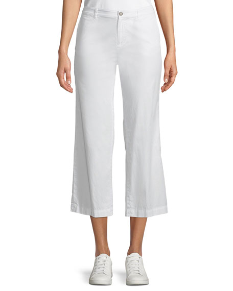 ATM Anthony Thomas Melillo Cropped Straight-Leg Poplin Pants