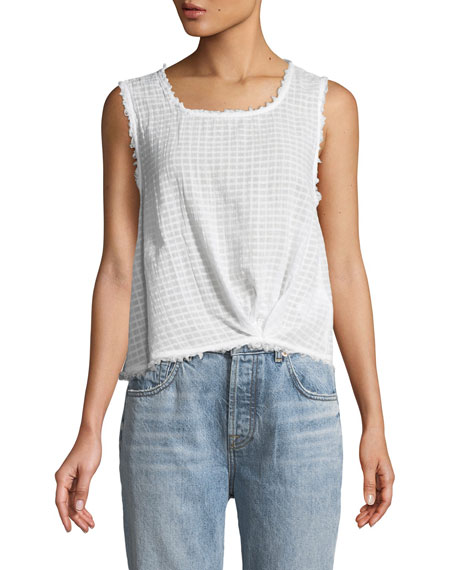 Knot-Front Cropped Tank Top