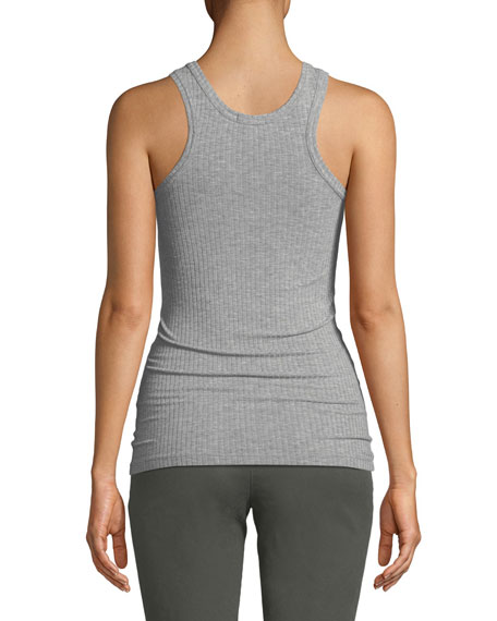 Ribbed Racer Tank Top