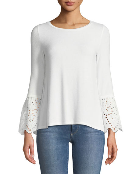 Generation Love Nola Long-Sleeve Eyelet Lace Top