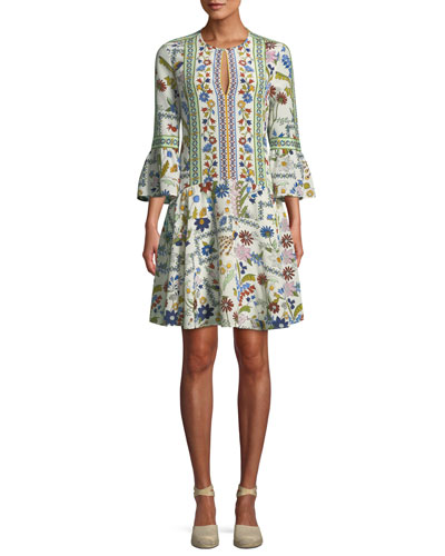 Daphne Meadow Floral Silk Dress