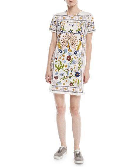 Tory Burch Kerry Short-Sleeve Meadow T-Shirt Dress