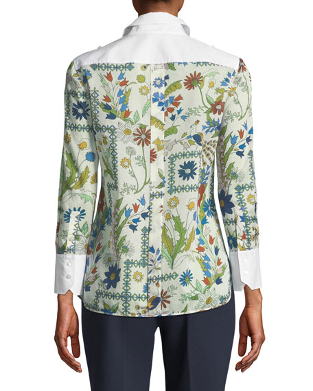 Brigette Meadow-Floral Blouse
