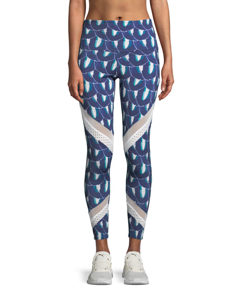 Onzie Sporty Printed Mesh Performance Leggings