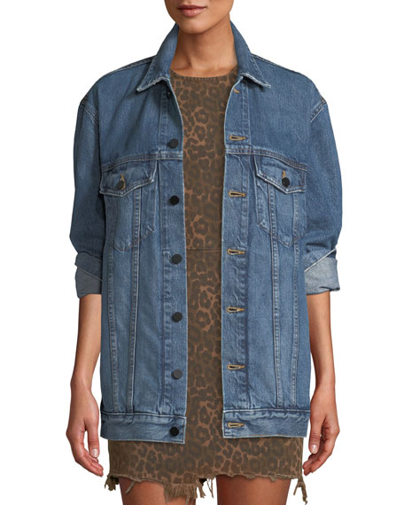 T by Alexander Wang Daze Button-Front Denim Jacket