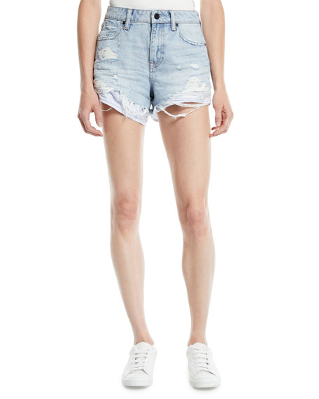 T by Alexander Wang Bite-Mix Bleached Cutoff Denim