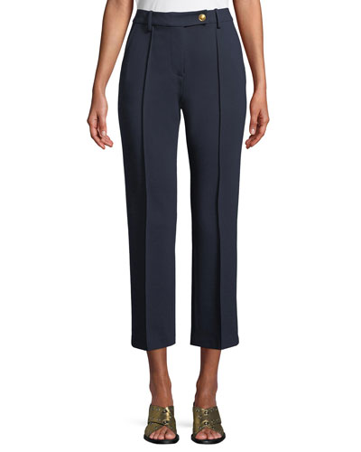 Sara Cropped Ponte Knit Pants