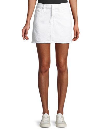Le Mini Straight Denim Skirt