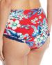 Cheeky Floral Ruffle High-Waist Bikini Bottom