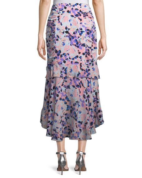 Swingtime Floral Ruched Skirt