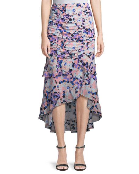 Nanette Lepore Swingtime Floral Ruched Skirt