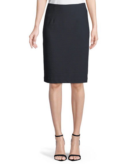 Sly Textured Pencil Skirt