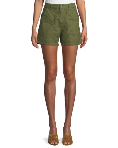 Vendetta High-Waist Cotton Shorts