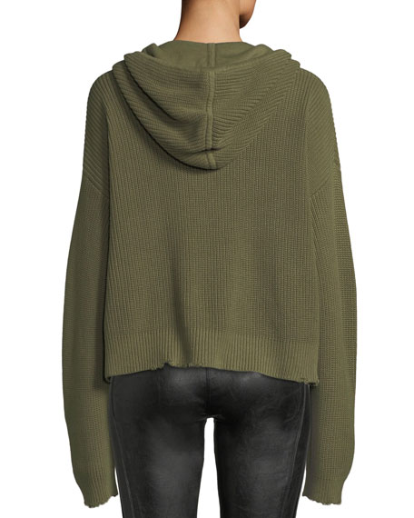 Marvin Hooded Knit Pullover Sweater
