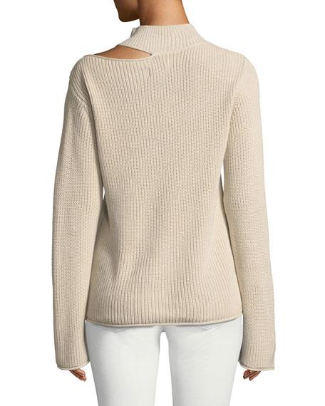 Langley Cutout Cotton Turtleneck Sweater