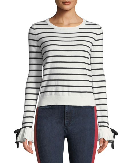 Temera Striped Bell-Sleeve Sweater