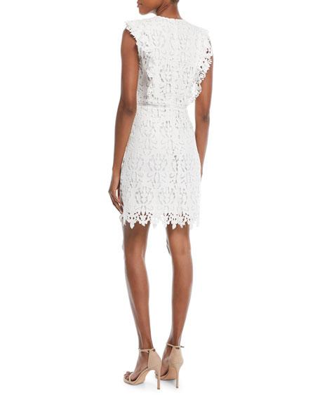 Poppy Back-Ruffle Sleeveless Dress