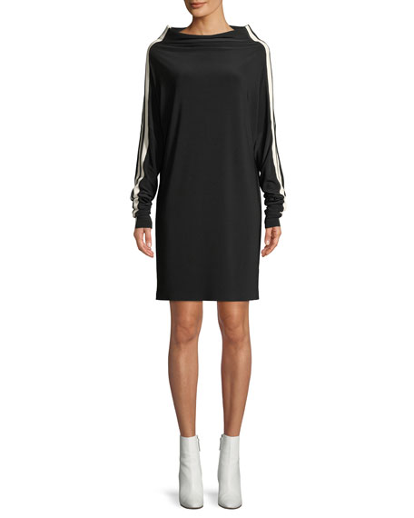 Norma Kamali MJ All-in-One Dress w/ Side Stripes