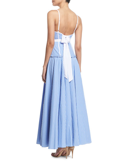 The Moro Striped Corset Dress