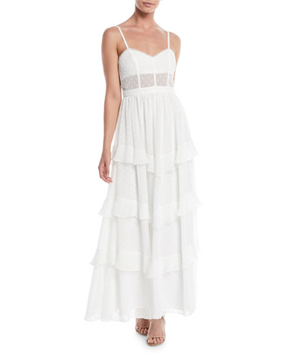 The Nancy Ruffle Tiered Maxi Dress