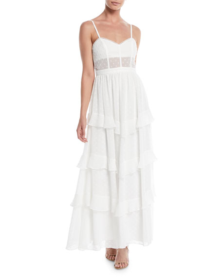 Fame and Partners The Nancy Ruffle Tiered Maxi