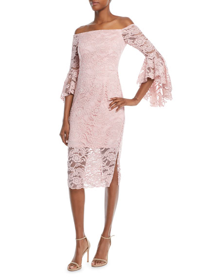 Selena Stretch Lace Off-the-Shoulder Dress