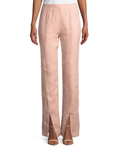 Arya Split-Leg Linen Pants