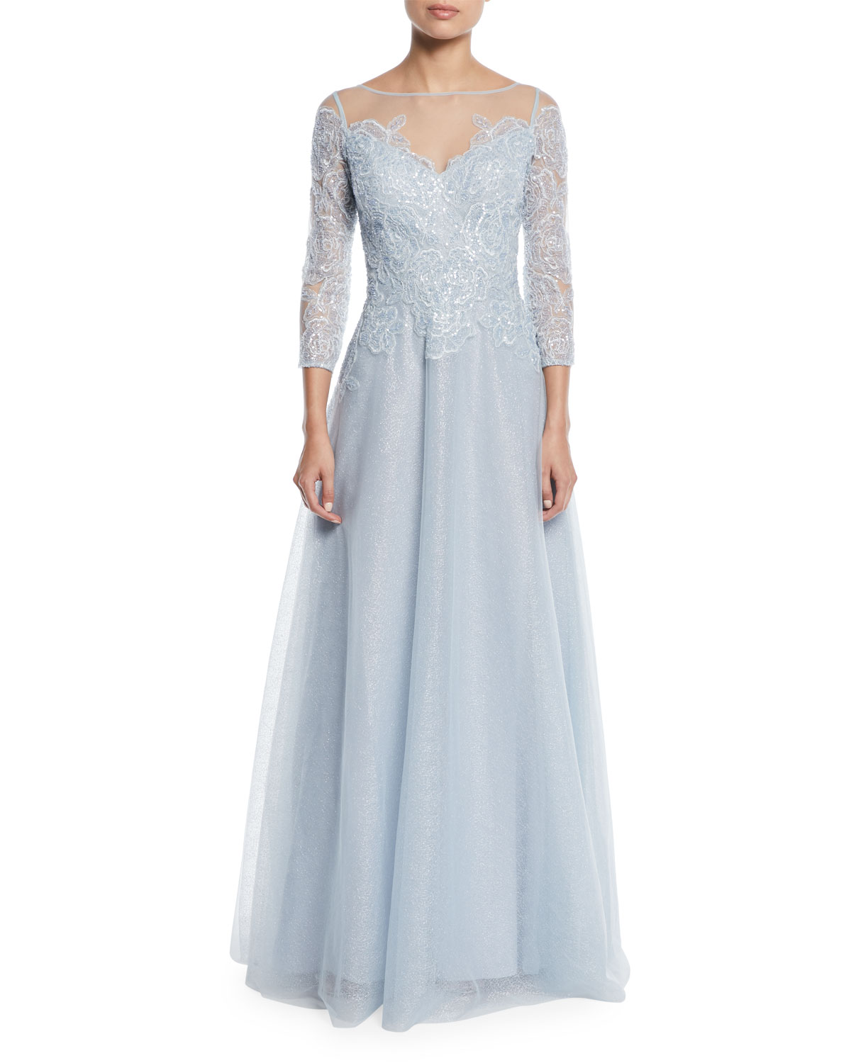 Rickie Freeman for Teri Jon Lace & Tulle Fairy Tale Ball Gown ...