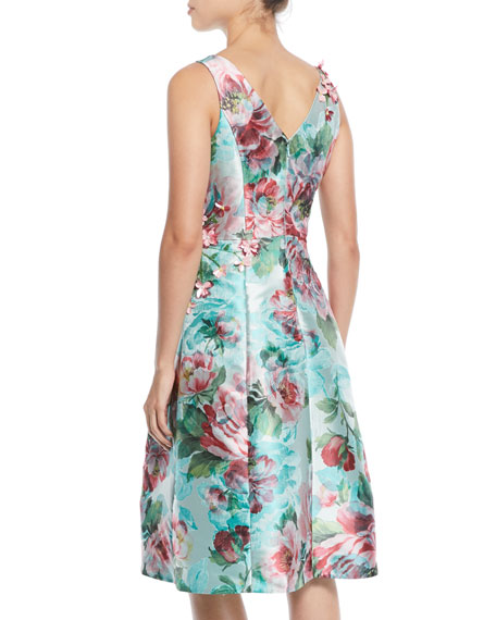 Floral Jacquard Gazaar Party Dress
